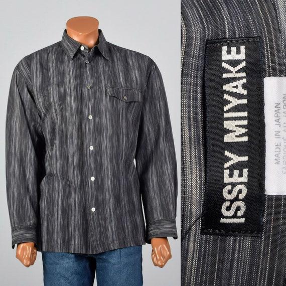XXL Issey Miyake Striped Button Down Shirt Pocket