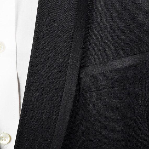 43L 35 x x x 30 hommes des années 1960 smoking noir col châle Tux soirée formelle portent cravate noire deux pièces après Six pantalon Smoking devant plissé 20a3f8