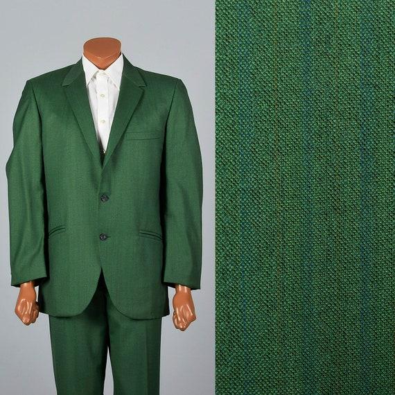 42R 37x31 1960s Mens Two Piece Suit Rockabilly Sui