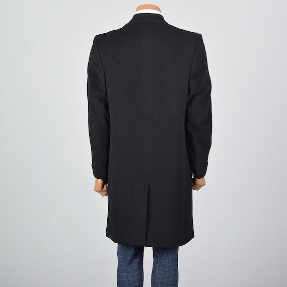 Coat Pour Cachemire Années Moyenne Top Homme Des Noir Manteau wpa6zcqI