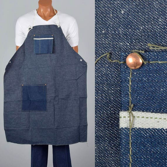 Chefs Apron Deadstock Denim Selvage Workwear Apron Denim Work Denim 1960s Selvedge Apron Apron Shop Apron 1950s Selvedge Vintage Apron Denim 6nHWdxHq