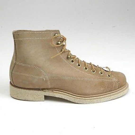 Size 6 Deadstock Mens Boots 1960s Work Boots 60s M