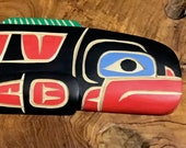 Richard KRAWCHUK Salmon 12 quot Displays Horizontally Native Legend Artist Cedar Carving Squamish Nation Canadian Carver Collected Worldwide R