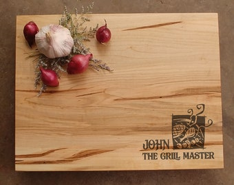 Dad Cutting Board - Grill Master Cutting Board - Father's Day Gift - Personalized Gift for Dad - Gift for Him - BBQ Gift for Dad