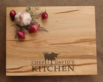 Dad Chef Cutting Board - Father's Day Gift - Personalized Gift for Dad - Gift for Him - BBQ Gift for Dad