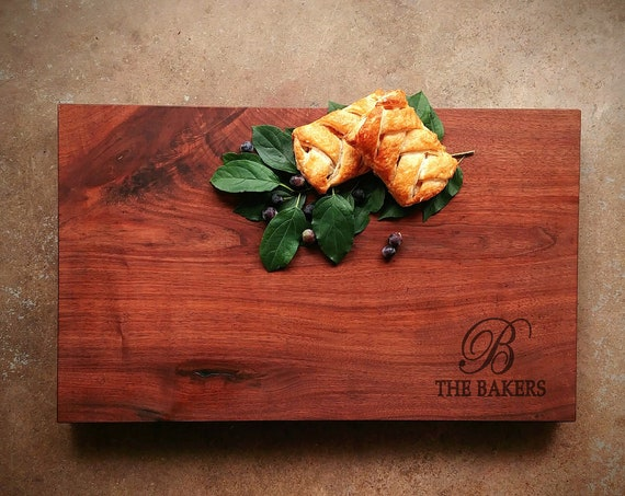 Personalized Thick Walnut Cutting Board