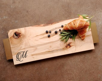 Personalized Cheese Board Maple - Personalized Cutting Board w/Feet, Choice of Handle, includes Wood Butter - Wedding Board