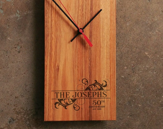 50th Wedding Anniversary Gift - Personalized 25th Wedding Anniversary Gift - 5th Wedding Anniversary Gift - Personalized Anniversary Clock