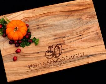 Personalized Cutting Board Maple 50th Wedding Anniversary Gift 25th Wedding Anniversary Gift 5th Wedding Anniversary Gift