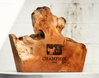 Handmade Eco-friendly Awards made from Willow Burl
