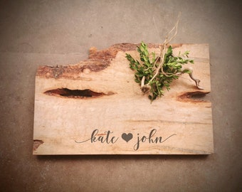 Personalized Live Edge Quilted Maple Charcuterie Board - #W8D0620
