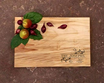 Personalized Anniversary Cutting Board - Personalized Anniversary Gift - 50th Anniversary Gift - 25th Anniversary Gift - Anniversary Board