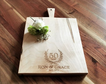 50th Wedding Anniversary Gift - Personalized Cutting Board - 25th Wedding Anniversary Gift - 5th Wedding Anniversary Gift
