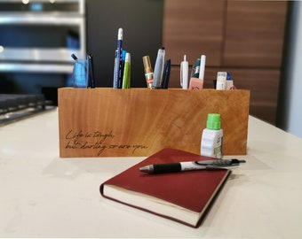 Personalized Desk Caddy - Home Office Accessory
