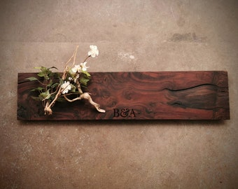 Highly Figured Claro Walnut Personalized Cheese Board