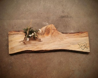 Rustic Live Edge *One of A Kind* Maple Personalized Charcuterie Board - #ZQH0621