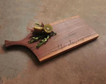 NØGEN Collection Handled Walnut Cheese Board
