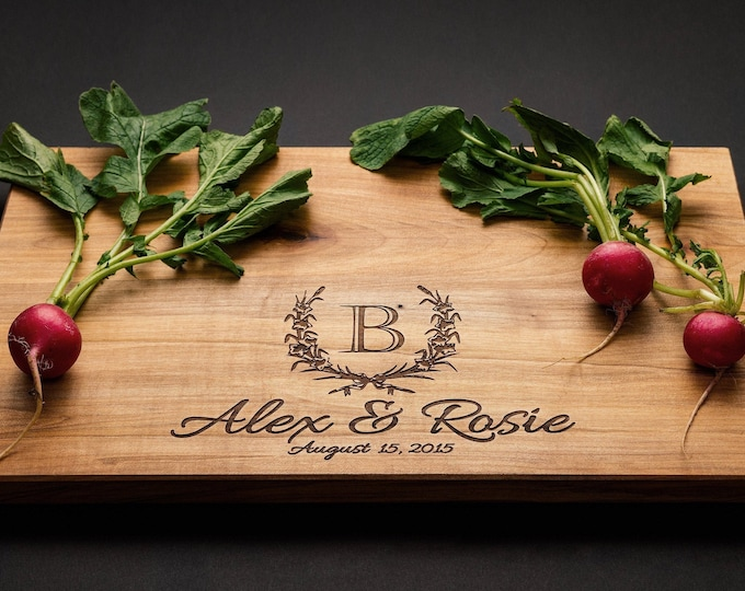 Featured listing image: Personalized Cutting Board - Wedding Board - Anniversary Board - Wedding Gift