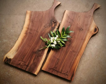Pair of Walnut Cheese Boards