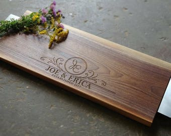 24x10 Handled Cheese Board - Personalized Charcuterie Board w/Handles - Serving Tray with Handles