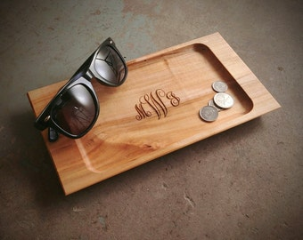 Personalized Valet Tray with Monogram Design