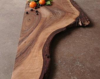 Rustic English Walnut Board w/Feet & Wood Butter