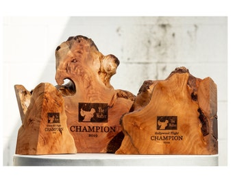 Corporate or Sports Awards made from Willow Burl