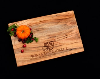 Personalized Cutting Board Maple 50th Wedding Anniversary Gift 25th Wedding Anniversary Gift 5th Wedding Anniversary Gift