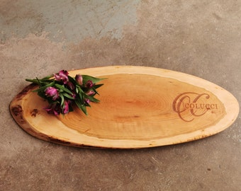 Personalized Cheese Board - Live Edge Cherry Charcuterie Board
