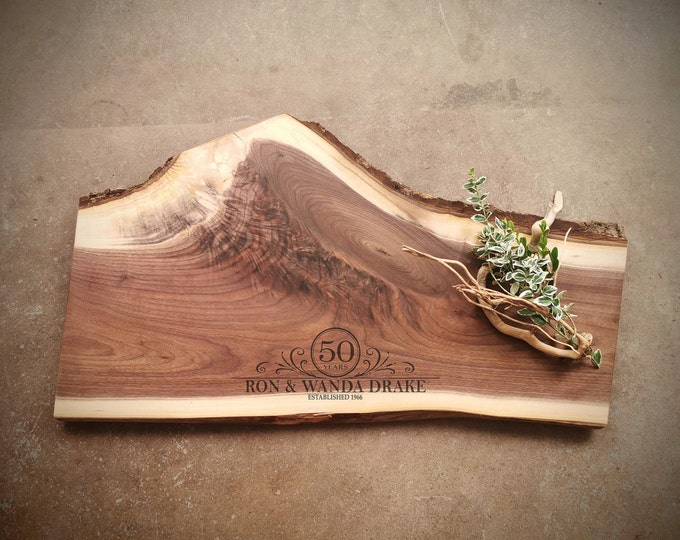 Featured listing image: Live Edge Personalized Cheese Board