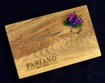 Personalized Cutting Board Spalted Maple by OSOhome Serving Tray Custom Cutting Board Wedding Anniversary Gourmet Art Rustic Charcuterie