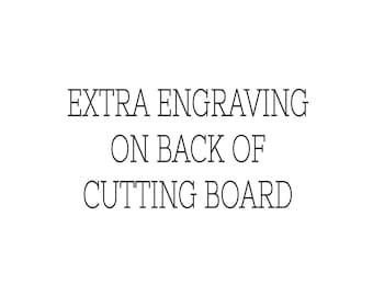 Extra Engraving Charge for 2nd Placement or Back of Board