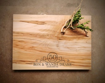 Large Personalized Maple Cutting Board