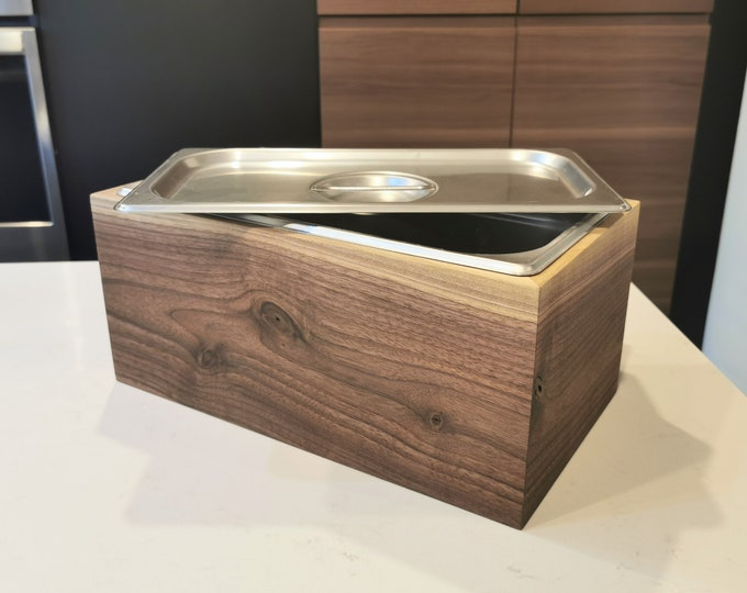 Featured listing image: Wood Compost Bin - Countertop Compost - Kitchen Compost