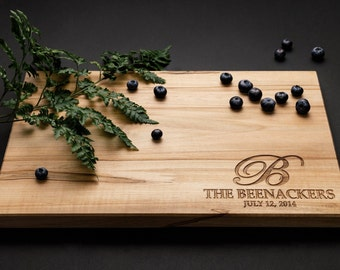 Personalized Cutting Board with Family Name - available in different woods and sizes