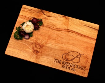 Personalized Cutting Board - Handmade Cutting Board - Maple Cutting Board - Wedding Cutting Board