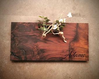 Large Claro Walnut Personalized Cheese Board