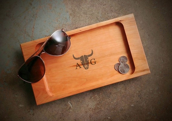Personalized Valet Tray with Longhorn Design