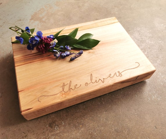 Family Christmas Cheese Board - Personalized Cutting Board