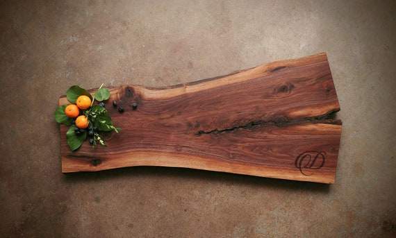 Live Edge Personalized Cutting Board