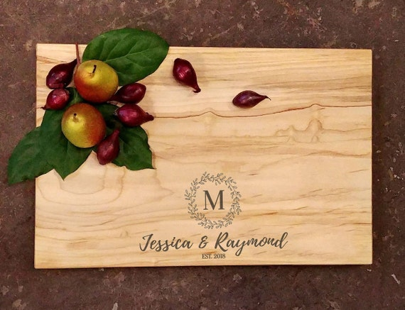 Personalized Cutting Board - Personalized Cheese Board - Wedding Cutting Board - Engraved Cutting Board - Personalized Wedding Gift