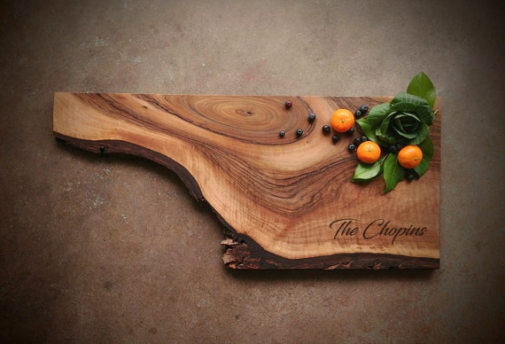 Rustic English Walnut Board w/Feet & Wood Butter