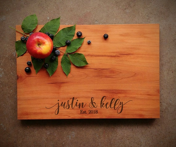 Personalized Cutting Board - Cherry Cutting Board - Personalized Cutting Board for Wedding - Gift for Couple