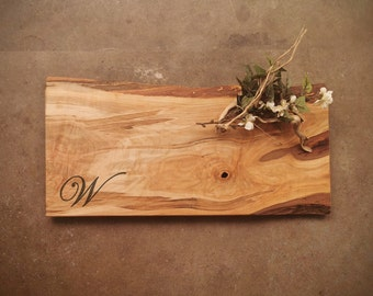 Personalized Charcuterie Board - Live Edge *One of A Kind* Maple Cutting Board - #Z9S1021