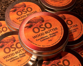 Private listing - OSO Wood Butter - 4oz Tin Wood Conditioner - Cutting Board Care Product