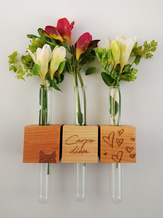 Magnetic Bud Vases by OSOhome - available in quantity orders of 25 or more