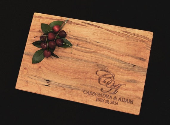 Personalized Cutting Board by OSOhome - Personalized Gift for Couple