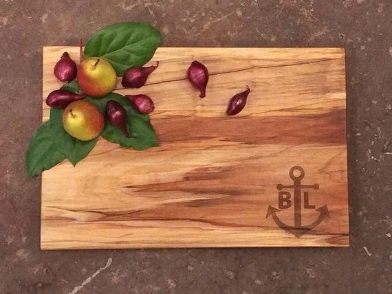 Personalized Cutting Board - Nautical  Anchor Cutting Board