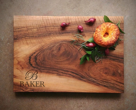 English Walnut Board w/Feet & Wood Butter