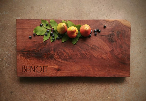 Personalized Cutting Board - Walnut Butcher Block - Large Cutting Board - Personalized Cheese Board - Engagement Gift - Fifth Anniversary